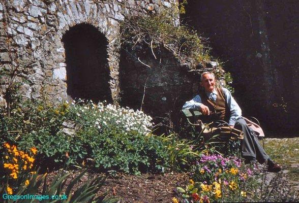 034-Grandpa-Steve-Manorbier-in-the-castle-1958