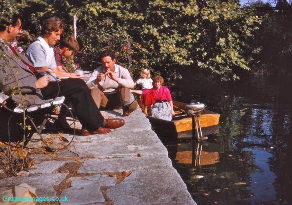 053-Person-unknown-Therese-Nicky-Dad-Cathy-and-mum-by-the-Creek-September-1959