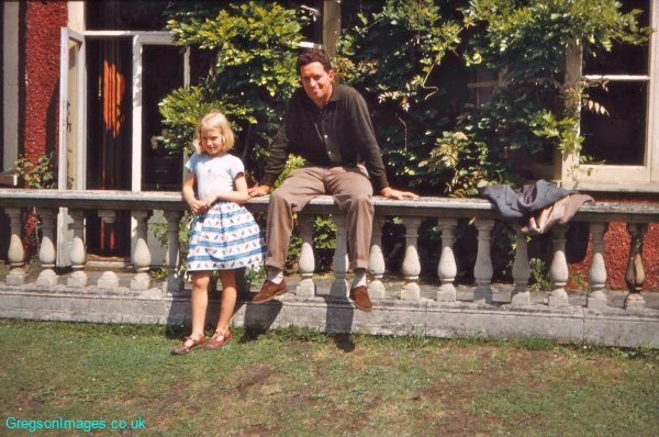 072-Cathy-and-Dad-Creek-House-June-1960