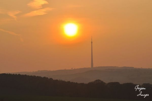 087.-Sunset-over-Emley-Mast